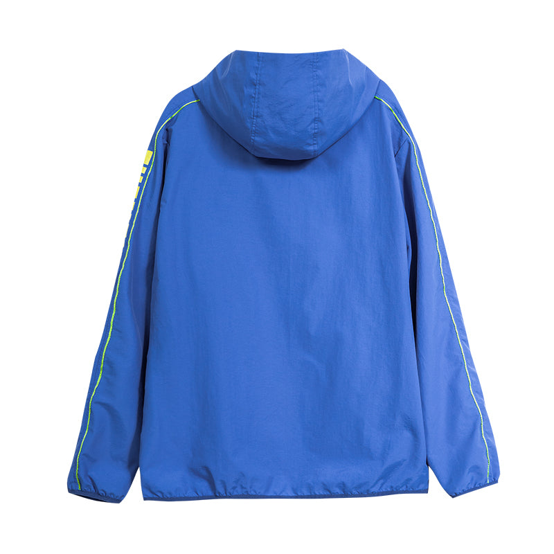 Letter Raglan Sleeve Hooded Jacket - 03JJ3414