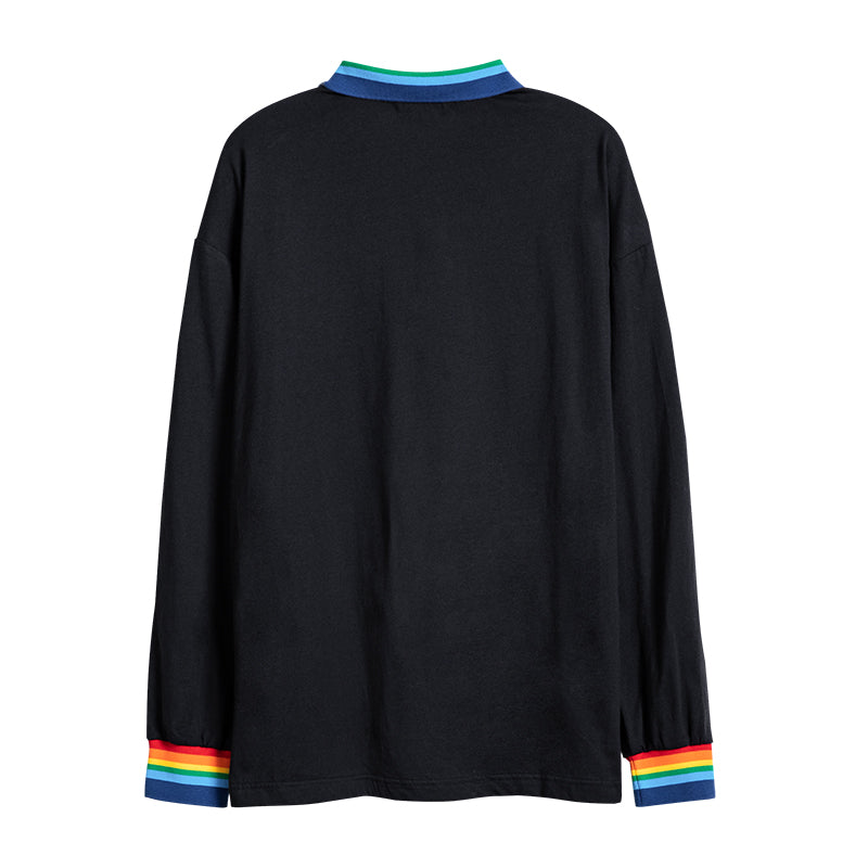 Rainbow Tipped Polo Shirt - 03JL3106
