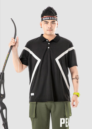 Contrast Panel Polo Shirt - 02JL2255