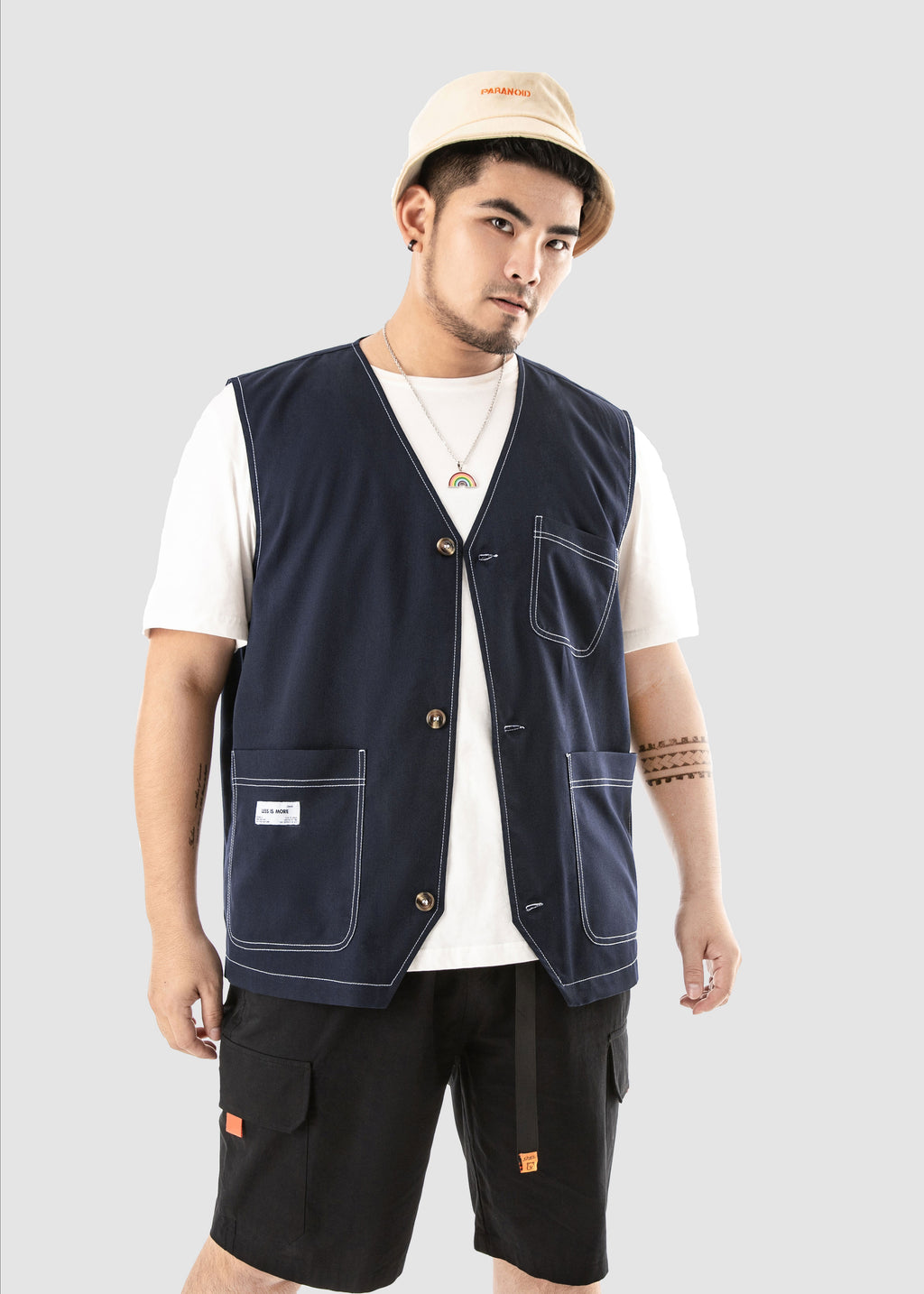 Pockets Casual Denim Vest - 02JV2692