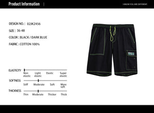 Contrast Stitch Pocket Shorts - 02JK2456