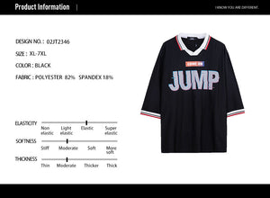 Letter Graphic Varsity Striped T-shirt - 02JT2346