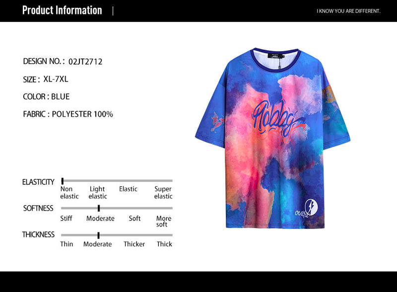 Letter Graphic Tie Dye T-Shirt - 02JT2712