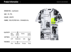 Letter Graphic Print Pocket T-Shirt - 02JT2634