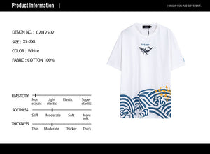 Shark Wave Print T-Shirt- 02JT2502