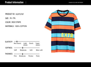 Stripes Letter Graphic T-shirt - 02JT2787