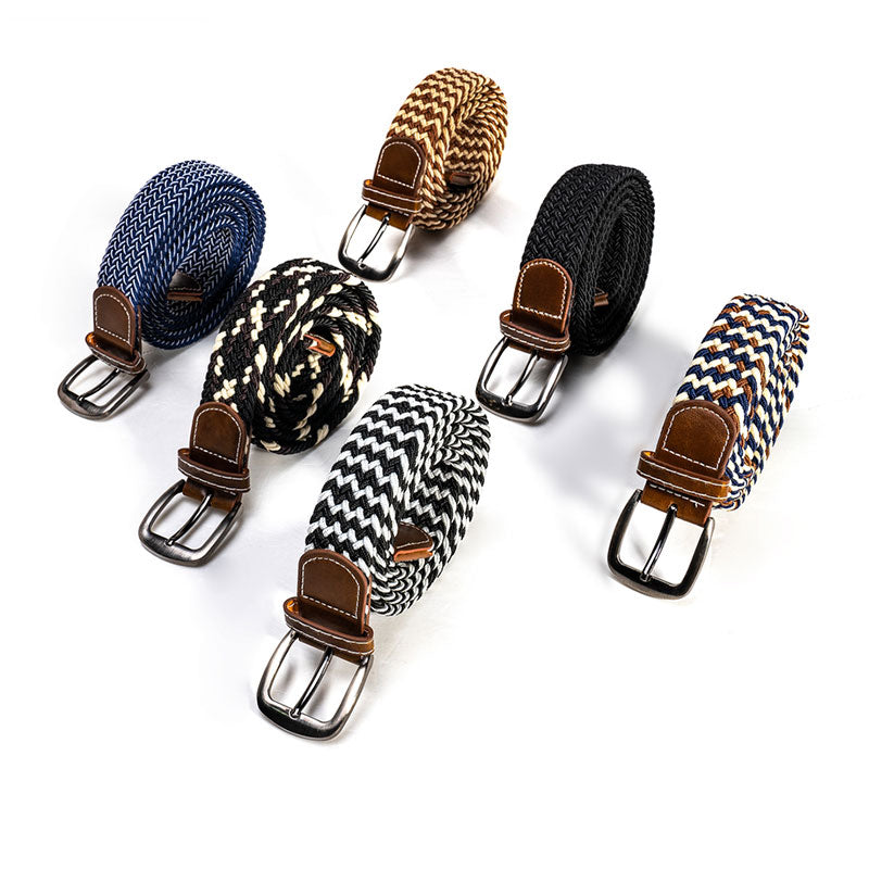 Extra-Length Braided Polyester Belt - C5149