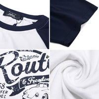 Casual Color-blocking Letter Print T-shirt - 02JT2380