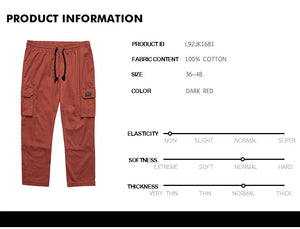 Side Pocket Drawstring Waist Cargo Pants - L92JK1681