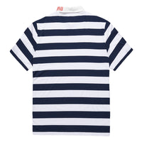 Striped Polo Shirt With Letter Collar - L92JL1644