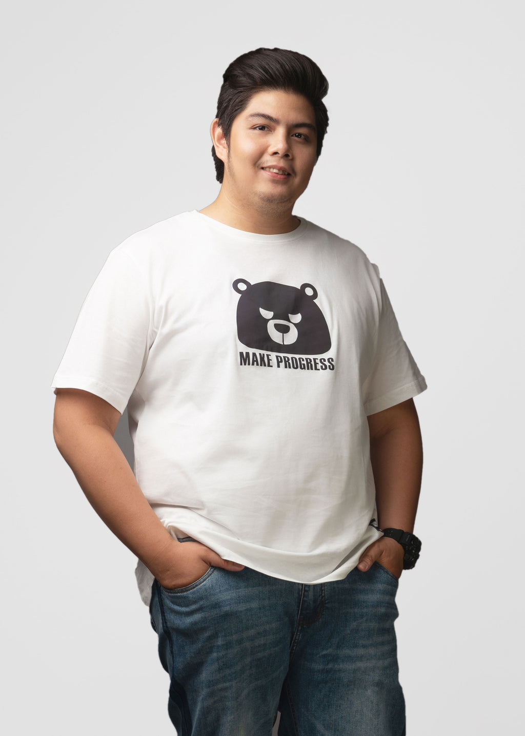 Bear Head Print T-shirt - L92JT1686