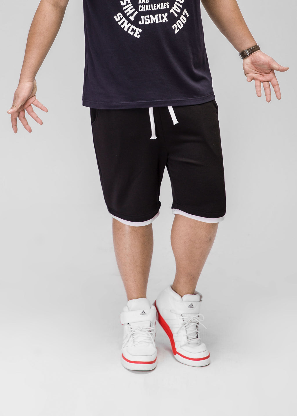 Drawstring Sweat Shorts - 72JK0146