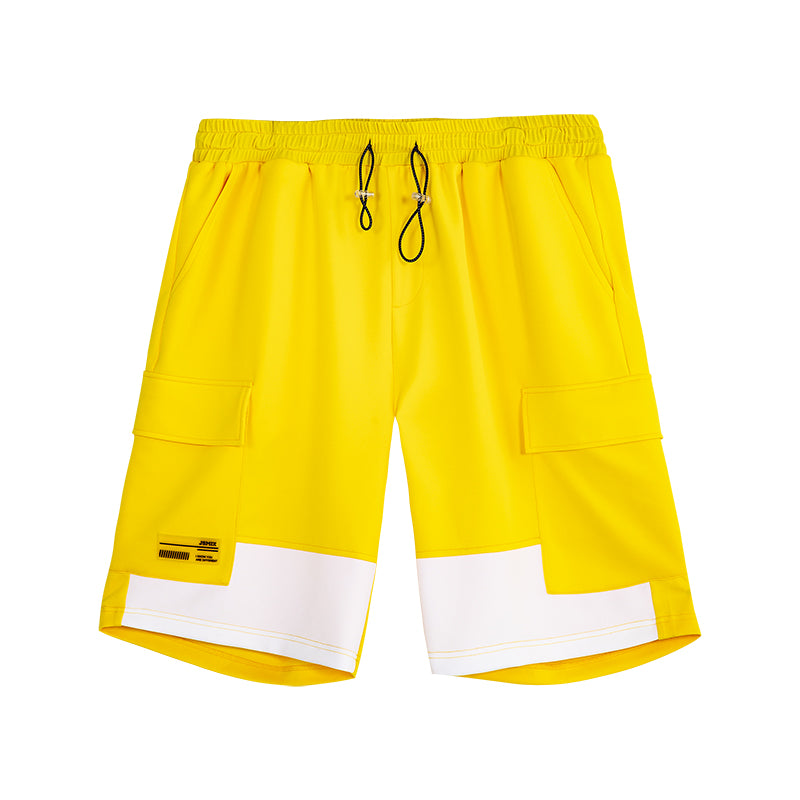 Color block Cargo Jogger Shorts - 02JK2422