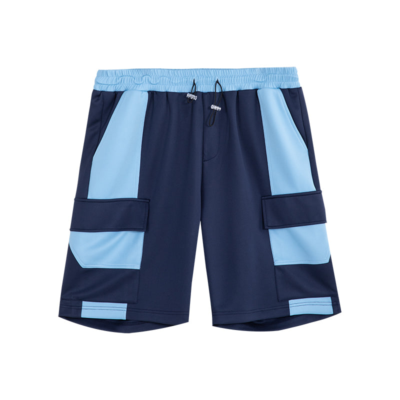 Color Block Sport Jogger Shorts - 02JK2200