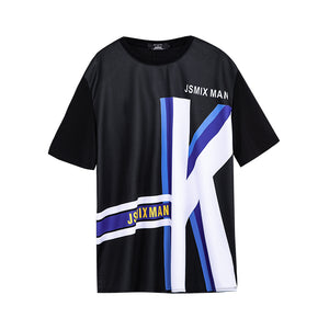 Letter K Graphic T-shirt - 02JT2416