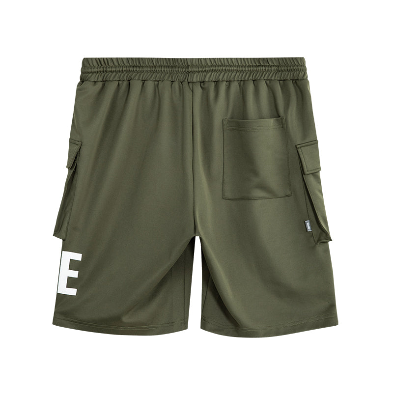Letter Graphic Cargo Shorts - 02JK2437