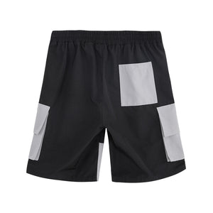 Color Block Cargo Jersey Shorts - 02JK2444