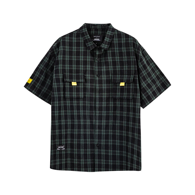 Plaid Print Pocket Shirt - 02JC2279