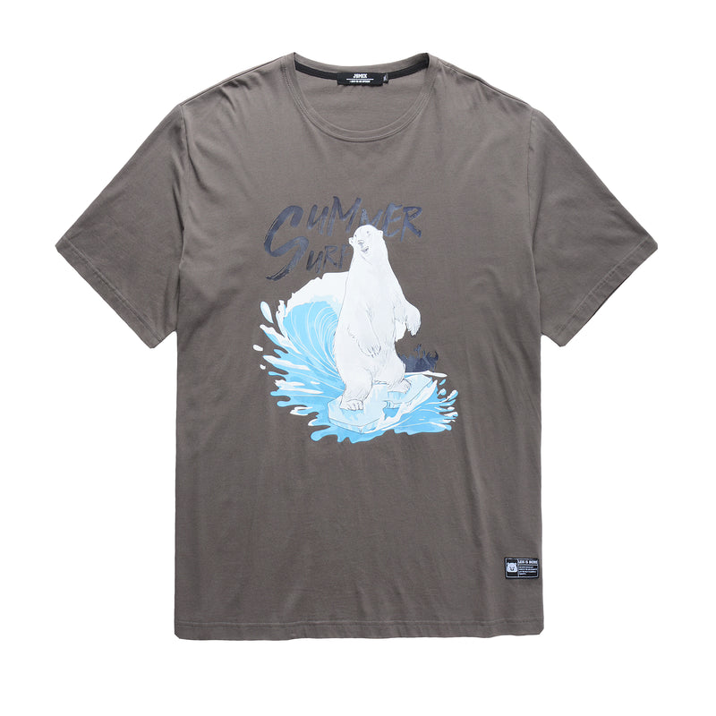 Summer Surf Polar bear Print T-Shirt - L92JT1615