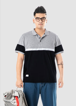 Color Spliced Polo Shirt - 02JL2276