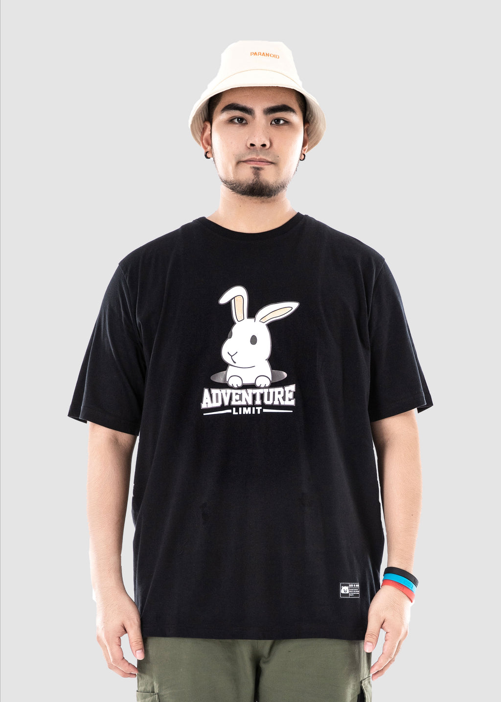 Rabbit & Letter Print T-shirt - 02JT3223
