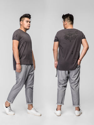 Casual Drawstring Striped Jogger Pants - 82JK0292