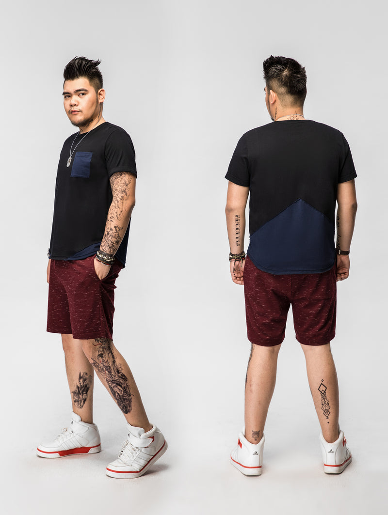 Stitching Pocket Short Sleeved T-Shirt - 82JT0908