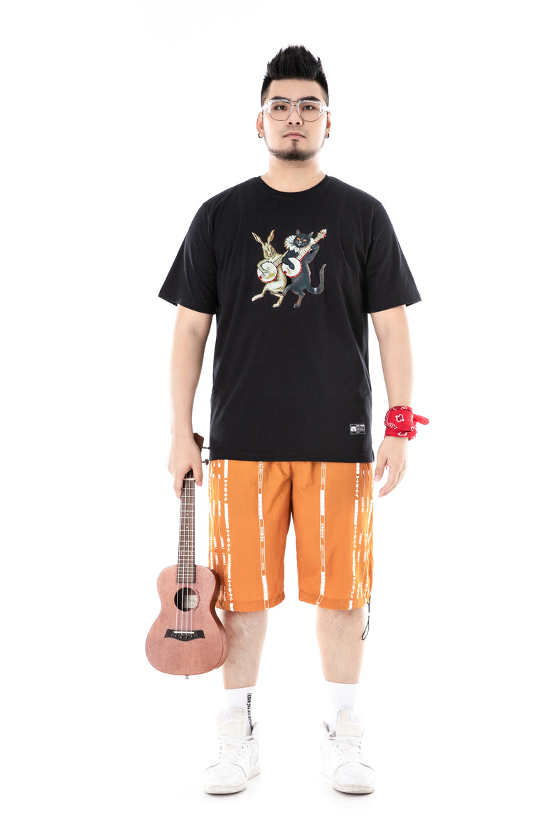 Cat Rabbit Musician T-Shirt - 02JT3198