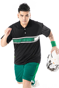 Color Block Stripe Polo Shirt - 02JL2272