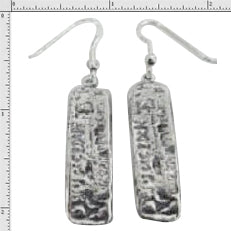 #1-595  Earrings Atocha Mini Silver Bars Sterling Silver