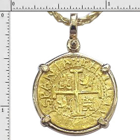 #6-7701  Replica Two Escudo Pendant