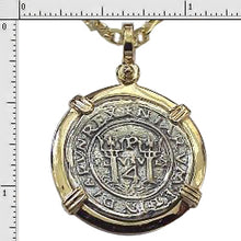 #6-7737-14K  Replica Two Reale Pendant