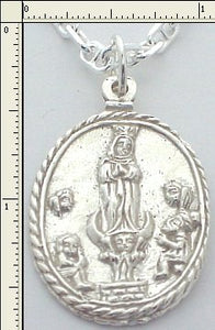 #7-7805   Atocha Religious Medallion Replica  Sterling Silver  Chain Not Included