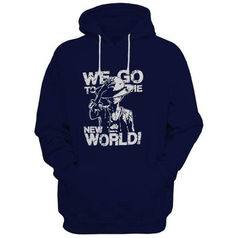 Md World Navy Blue Hoodie