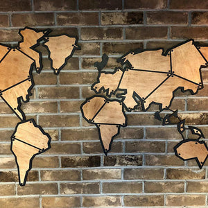 Antdecor metal world map 39x22 100x56cm metal wall decor metal antdecor metal world map 39x22 100x56cm metal wall decor gumiabroncs Image collections