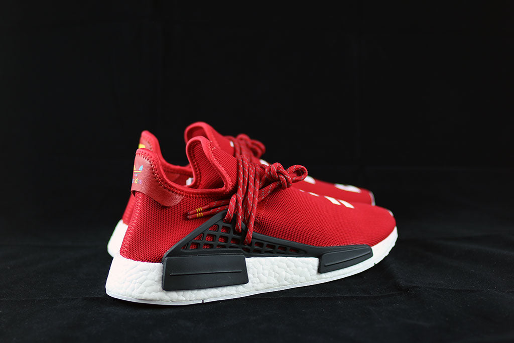 buy popular 20047 7f418 Pharrell x Adidas NMD Human Race Red – The Sneakers Plug