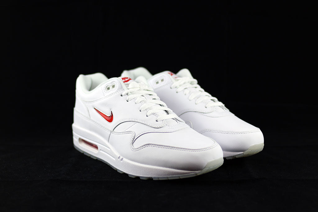 detailed look 2630f d36e8 ... Nike Air Max 1 Jewel OG White Red - The Sneakers Plug ...