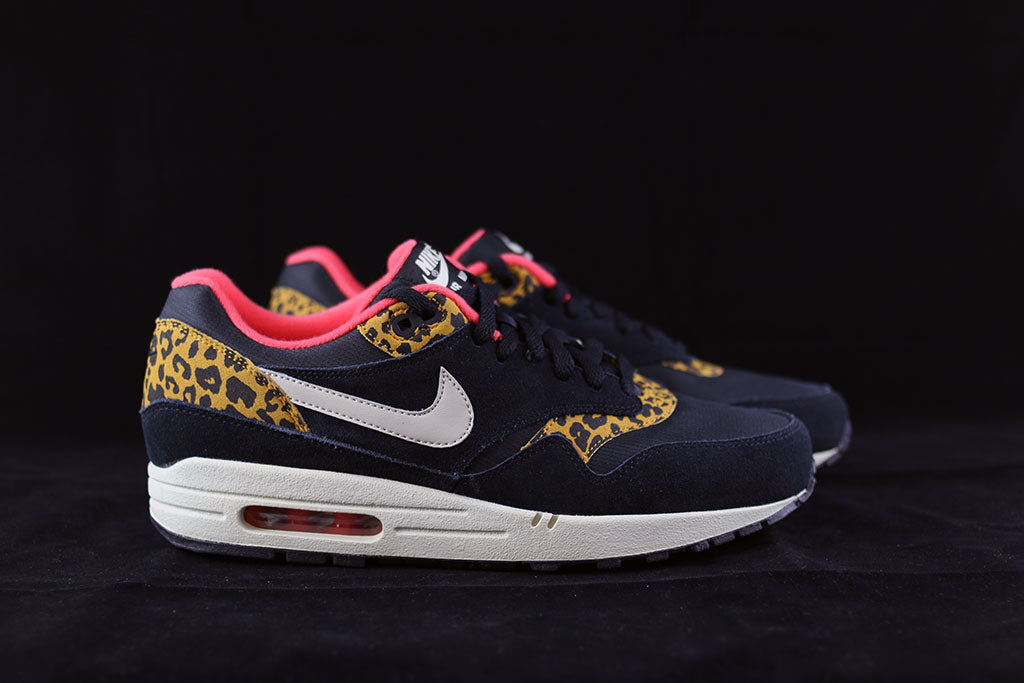 hot sale online dcb8f 289e1 Nike WMNS Air Max 1 Black Leopard - The Sneakers Plug