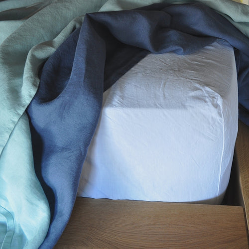 Queen Size Linen Fitted Sheet