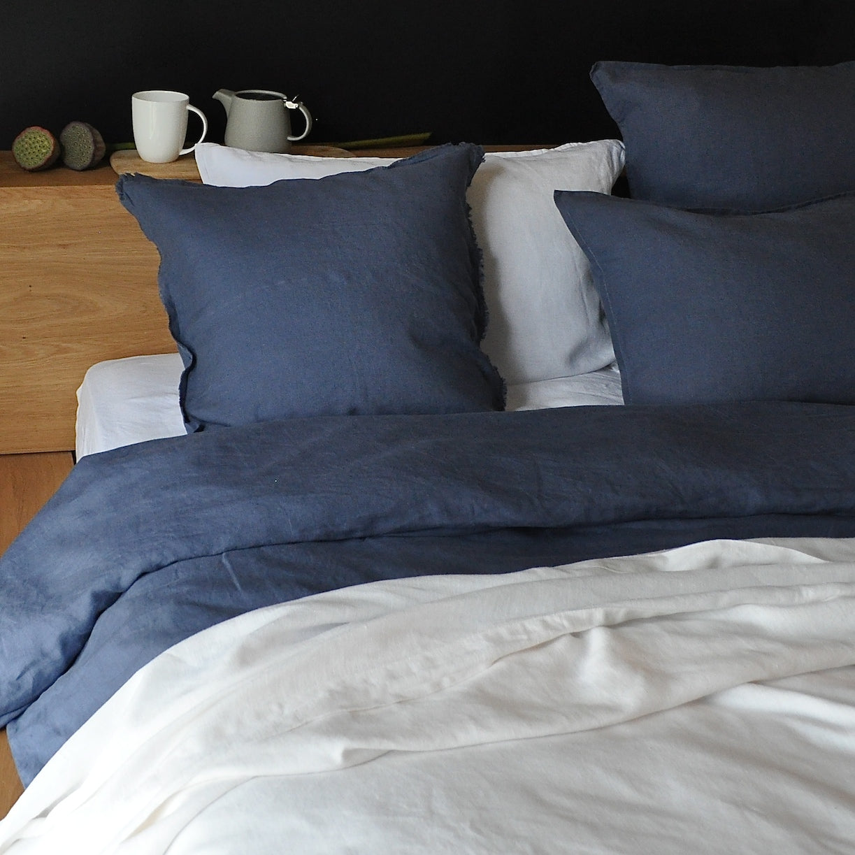 relaxed lifestyle french portugal natural is hero flax woven certified organic our comforter and black duvetcover duvet cover organiclinenchambray products from in linen
