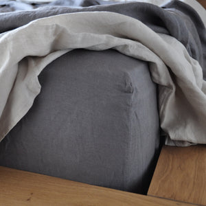 King Size Linen Fitted Sheet