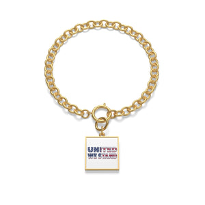 "Sterling Silver or 18K Gold Plated- ""United We Stand"" Chunky Chain Bracelet"