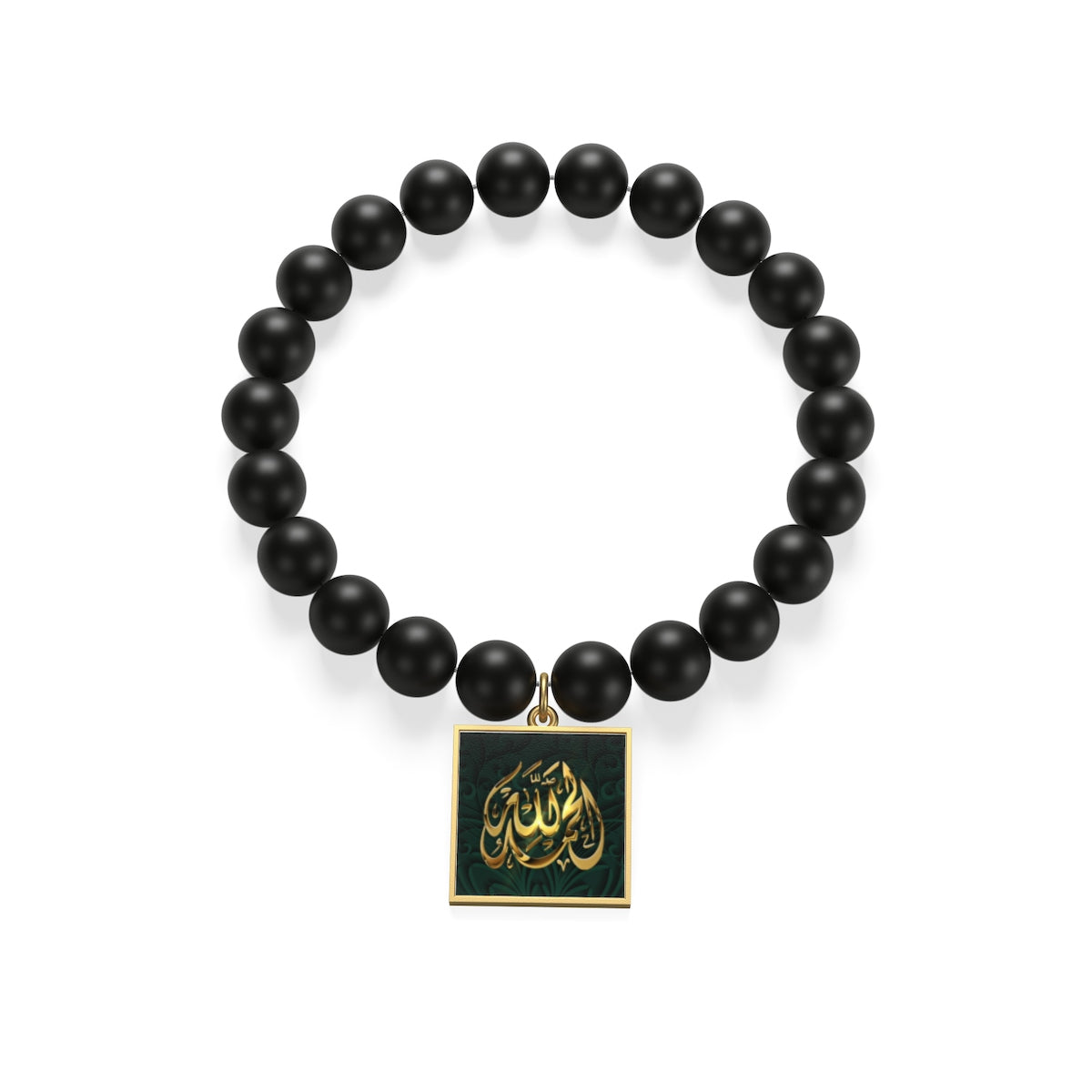Sterling Silver or 18K Gold Plated- Islamic Matte Onyx Bracelet
