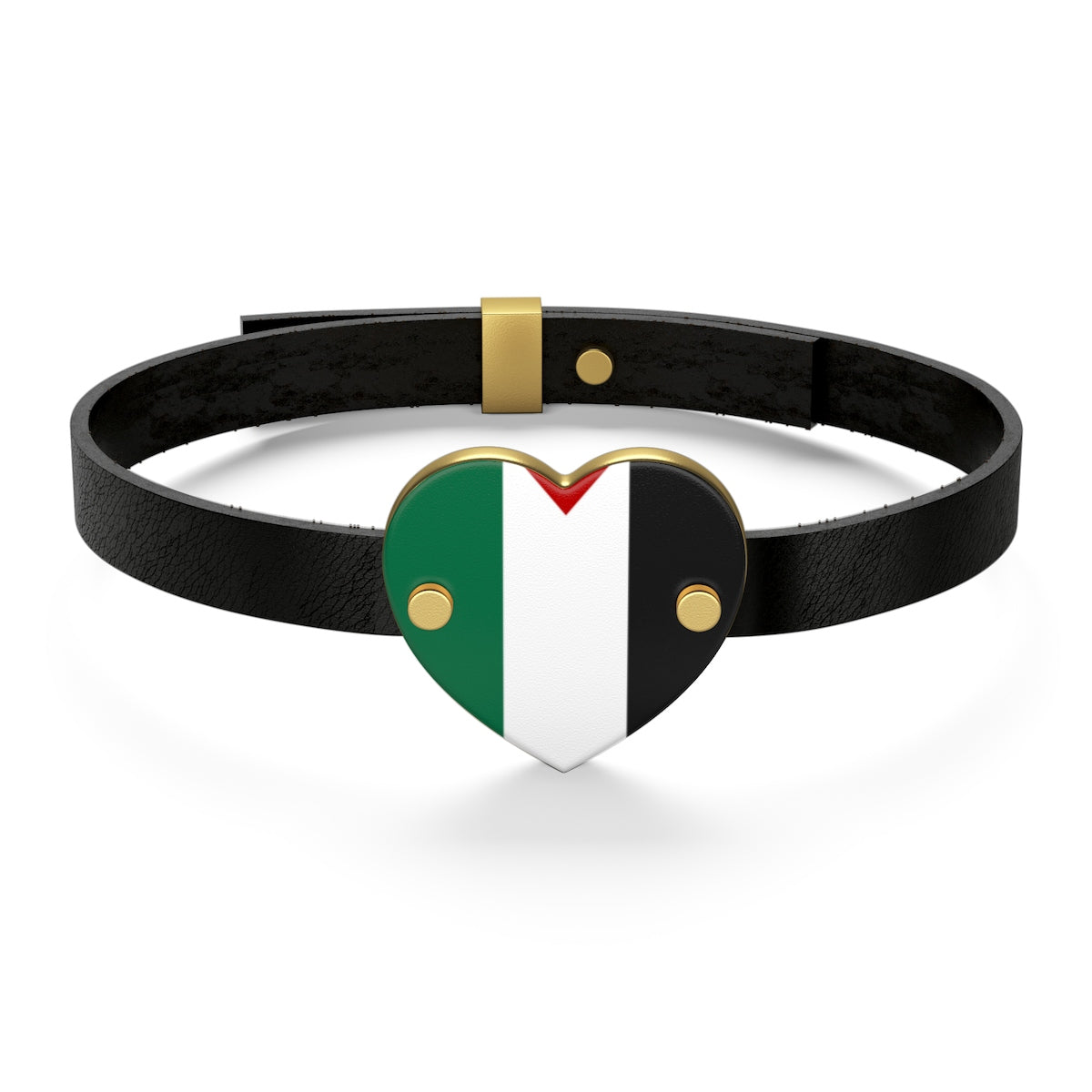 Sterling Silver or 18K Gold Plated- Palestine Leather Bracelet