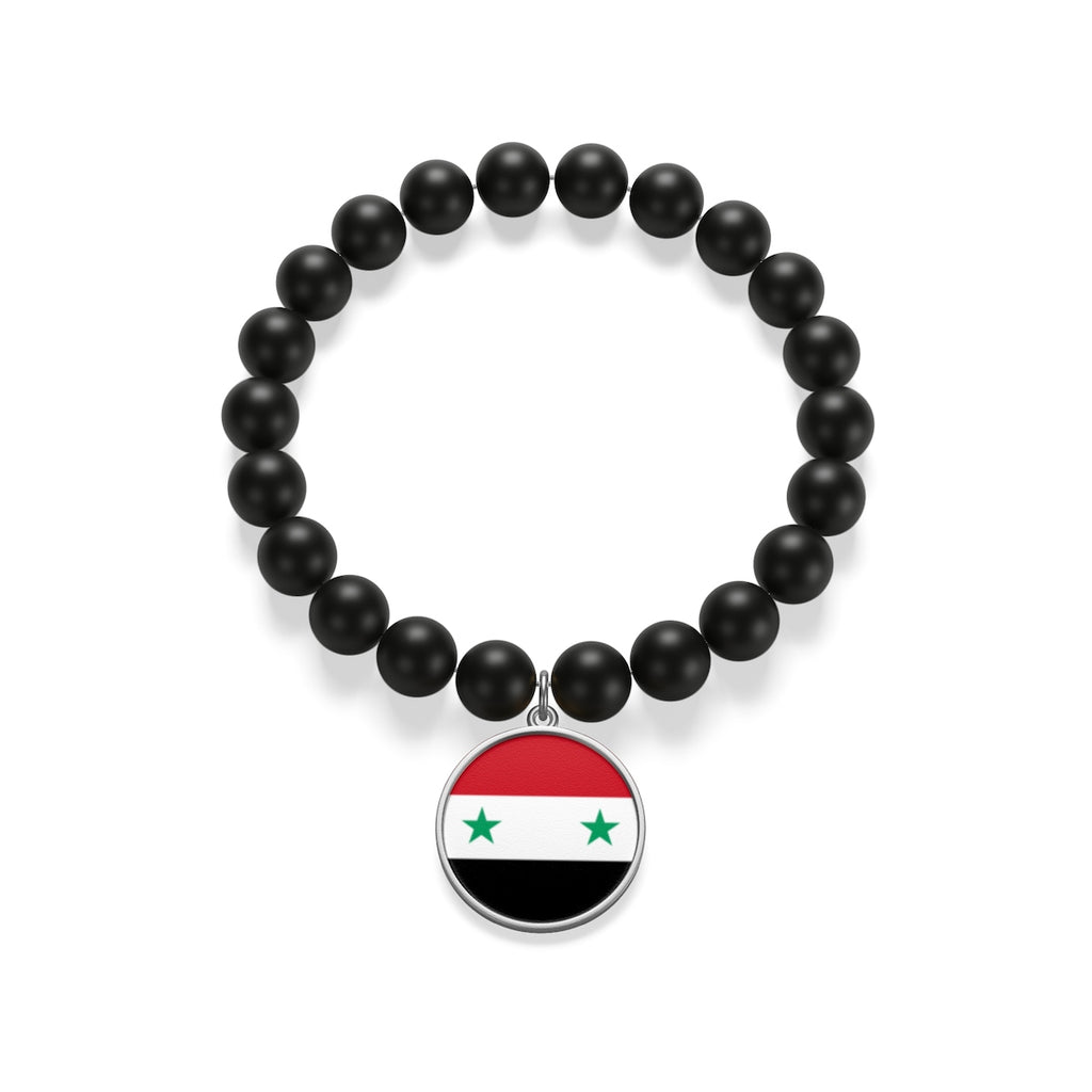 Sterling Silver or 18K Gold Plated- Syria Matte Onyx Bracelet