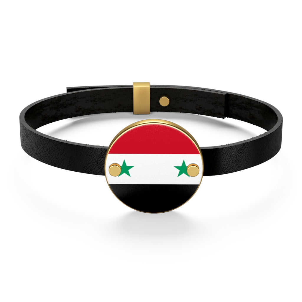 Sterling Silver or 18K Gold Plated- Syria Leather Bracelet