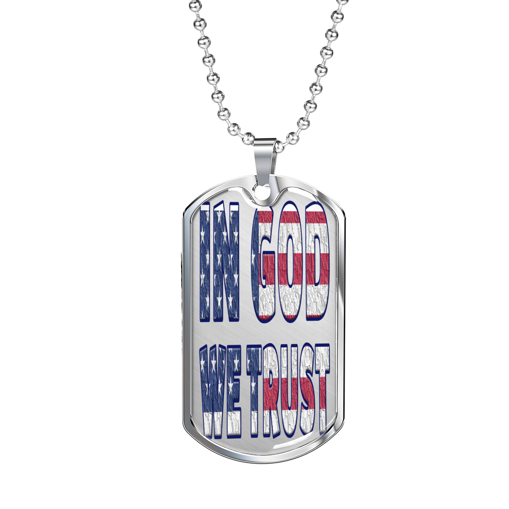 """In God We Trust"" Military Tag"