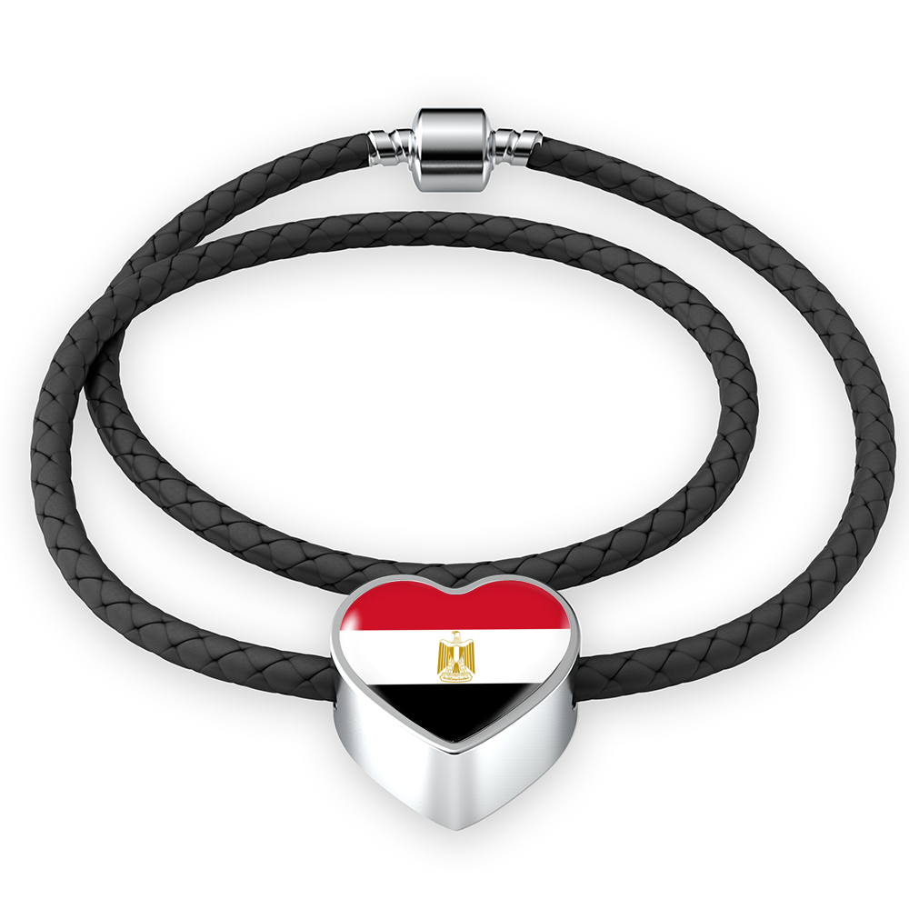 Egypt Leather Heart Bracelet