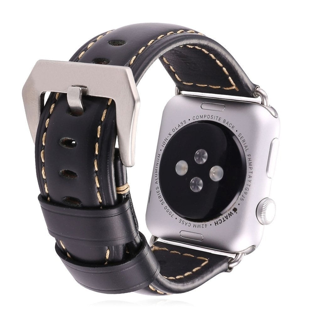 Genuine Cow Leather Strap Band For Apple Watch