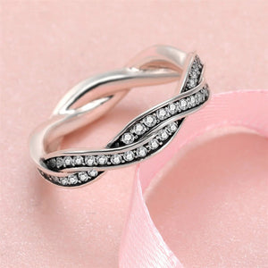 Sterling Silver Infinity Love Clear CZ Ring